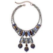Aris by Treska Blue Statement Bib Necklace