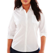 Arizona Short-Sleeve Button-Front Uniform Shirt - Plus