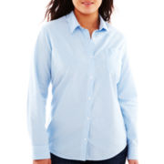 Arizona Long-Sleeve Woven Shirt - Juniors Plus