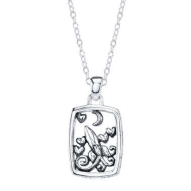 jcpenney.com | Footnotes® Sterling Silver Love You To The Moon Pendant Necklace