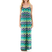 Self Esteem® Chevron Print Popover Maxi Dress
