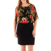 Scarlett Short-Sleeve Blouson Dress - Plus
