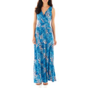 St. John's Bay® Sleeveless V-Neck Maxi Dress - Petite