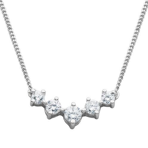 DiamonArt® Cubic Zirconia 5-Stone Necklace