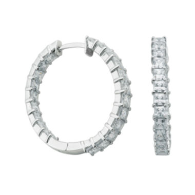 jcpenney.com | DiamonArt® Cubic Zirconia Inside Out Hoop Earrings