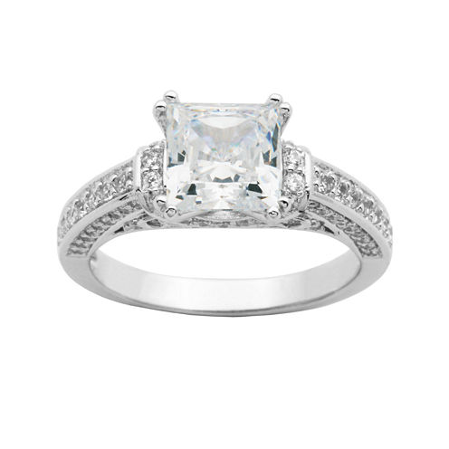 DiamonArt® Princess-Cut Cubic Zirconia Ring