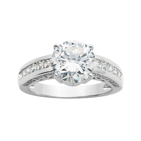 DiamonArt® Round Cubic Zirconia Ring