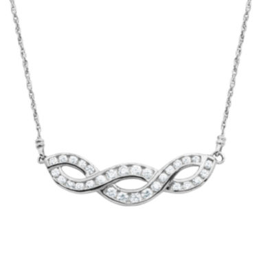 jcpenney.com | DiamonArt® Cubic Zirconia Sterling Silver Twist Pendant Necklace