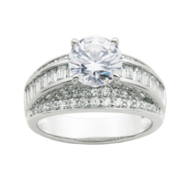 jcpenney.com | DiamonArt® Cubic Zirconia Sterling Silver Bridal Ring