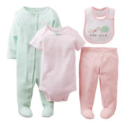 Carter's® Turtle 4-pc. Layette Set - Girls newborn-6m