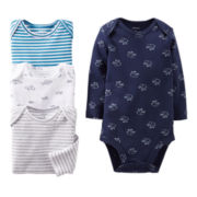Carter's® Animal 4-pk. Long-Sleeve Bodysuits - Boys newborn-24m