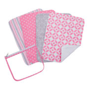 Trend Lab® Lily 4-pk. Burp Cloths