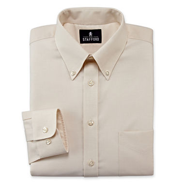 Stafford easy care oxford dress shirt big tall jcpenney for Stafford big and tall shirts