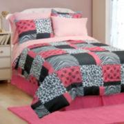 Pink Skulls Comforter Set