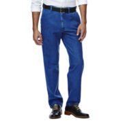 Haggar® Work to Weekend® No-Iron Flat-Front Denim Pants