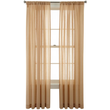 jcpenney.com | MarthaWindow™ Flutter Rod-Pocket Sheer Panel