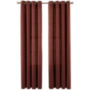 MarthaWindow™ Laurel Basketweave Grommet-Top Curtain Panel