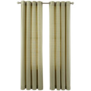 MarthaWindow™ Laurel Basketweave Grommet-Top Curtain Panel