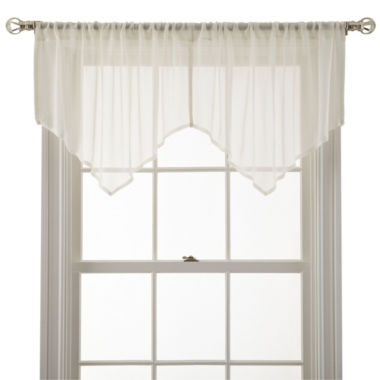 jcpenney.com | MarthaWindow™ Airy Rod-Pocket Sheer Ascot Valance