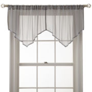 MarthaWindow™ Airy Rod-Pocket Sheer Ascot Valance