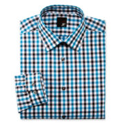 JF J. Ferrar® Gingham Dress Shirt - Slim Fit
