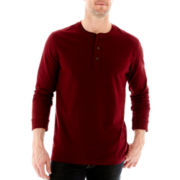 St. John's Bay® Long-Sleeve Sueded Henley