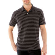 St. John's Bay® Short-Sleeve Heather-Striped Jersey Polo