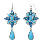 nicole by Nicole Miller® Aqua and Blue Stone Drop Earrings