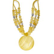 Mixit™ Yellow Shell 3-Row Pendant Necklace