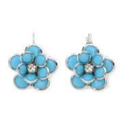 Mixit™ Aqua Stone Flower Earrings