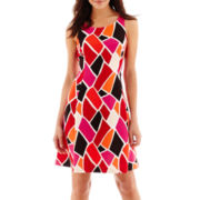 Worthington® Sleeveless Scuba Fit-and-Flare Dress