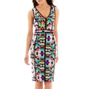 nicole by Nicole Miller® Sleeveless V-Neck Taping-Trimmed Dress