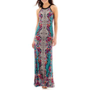 nicole by Nicole Miller® Sleeveless Print Maxi Dress
