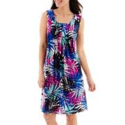 RN Studio by Ronni Nicole Sleeveless Knit Pleat-Neck Sheath Dress - Petite