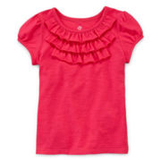 Okie Dokie® Ruffle Tee - Toddler Girls 2t-5t