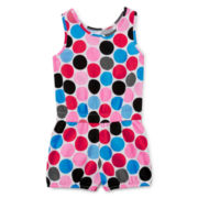 Okie Dokie® Polka Dot Bubble Romper - Toddler Girls 2t-5t