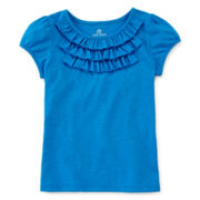 Okie Dokie® Ruffle Tee - Preschool Girls 4-6x