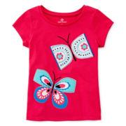 Okie Dokie® Embroidered Tee - Preschool Girls 4-6x