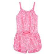 Okie Dokie® Ruffle-Hem Romper - Toddler Girls 2t-5t