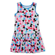 Okie Dokie® Print Ruffle Dress - Preschool Girls 4-6x