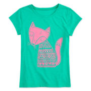 Arizona Puff-Print Fox Tee - Girls 7-16 and Plus