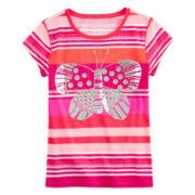 Arizona Striped Graphic Tee - Girls 7-16 and Plus