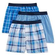 Hanes® Ultimate 3-pk. ComfortFlex® Woven Boxers - Boys 6-20