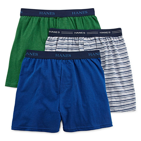 Hanes® Ultimate 3-pk. ComfortFlex® Knit Boxers - Boys 6-20
