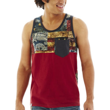 jcpenney.com | akademiks® Crush Vintage Flag Tank Top