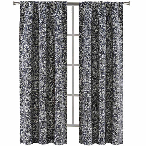 Richloom Laconia 2-Pack Rod-Pocket Curtain Panels