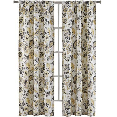Richloom Bijoux 2-Pack Rod-Pocket Curtain Panels