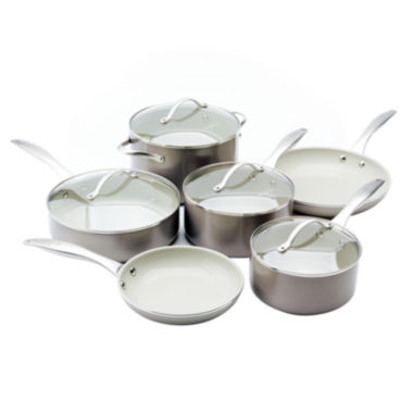 jcpenney.com | Trisha Yearwood 10-pc. Nonstick Aluminum Cookware Set