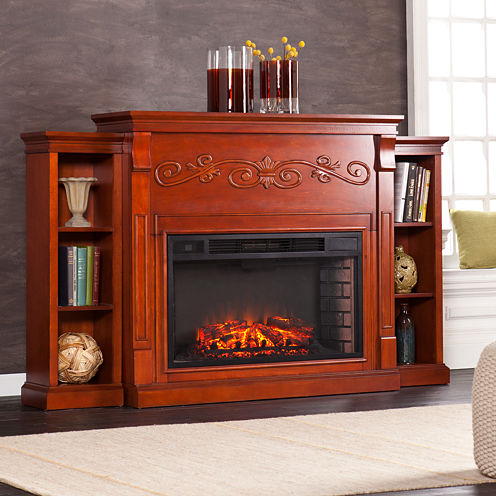 Wise Bookcase Electric Fireplace