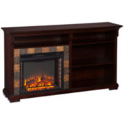 Glendale Electric Fireplace TV Stand with Bookcase